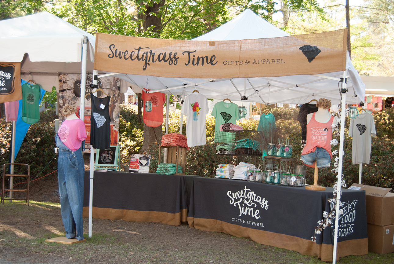 Sweetgrass Time Booth Display