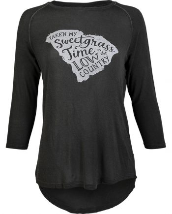 Sweetgrass Time SC State Women's 3/4 Sleeve Top
